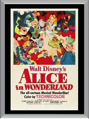 Alice In Wonderland Cartoon A1 To A4 Size Poster Prints