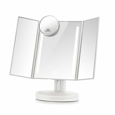Terresa Led Lighted Makeup Mirror with 10X Magnifying Small Mirror - Touch