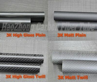 3k Carbon Fiber Tube 500MM 30mm 32 33 34 35mm 36mm 38mm 40mm 42 45 50mm 60mm IE