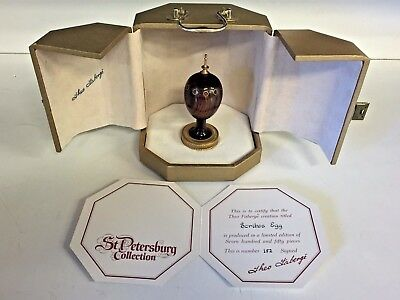 Vtg 1985 Theo Faberge's Scribs Egg #152 of 750 Complete Card W/ Box Scribe Rare