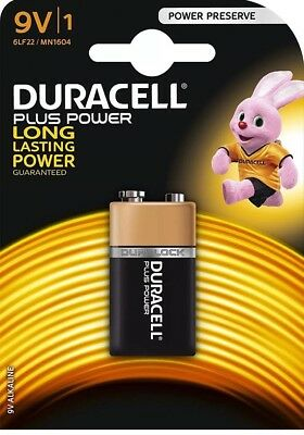 13 x Duracell 9V PP3 Plus Power Batteries, Smoke Alarms (LR22, MN1604, 6LR61)