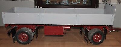 Modelmaking Long Open Trailer - Scale 1:8, with Lighting Rear / Taillights