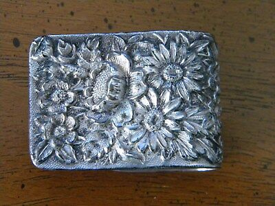 Sterling Silver vintage Kirk & Son Repousse pattern napkin clip 18.6g