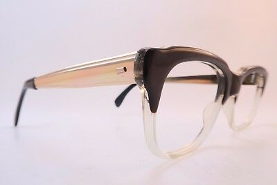 Vintage 50s BOW graduated eyeglasses frames Mod 182 Size 50-22 made in England