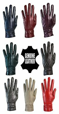 Ladies Womens Winter Quality Genuine Soft Leather Gloves Fur Lined Driving Warm
