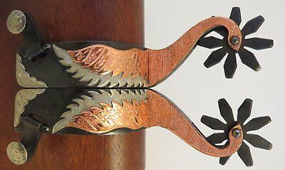New Handmade C-S Double Mounted Goose Neck Spurs