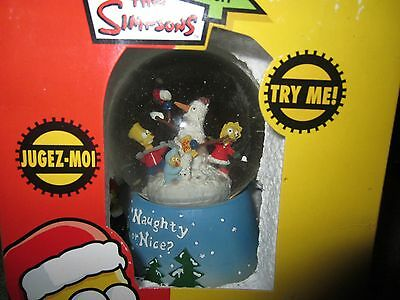 Simpsons Christmas Snowglobe By Kurt Adler 2004