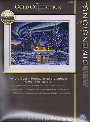 "Stickpackung ""Aurora Cabin "" / Dimensions Gold Collection"