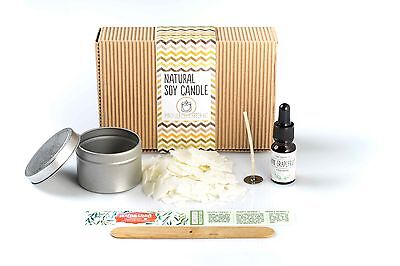 Natural Soy Wax Aromatherapy DIY Candle Making Starter Kit + Pure Essential Oil