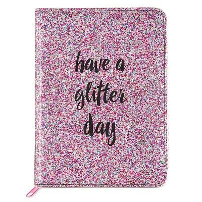 Betsey Johnson 'Have a Glitter Day' Notebook Pink Sparkle Journal - NEW