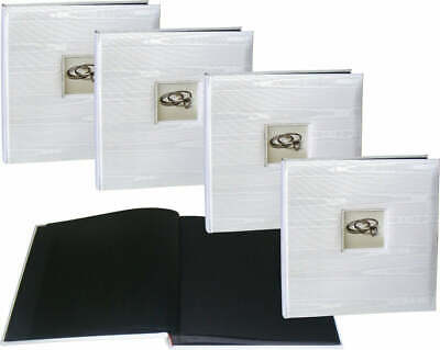 4x Wedding Silk Coral Coast wedding drymount black page photo albums * FOUR PACK