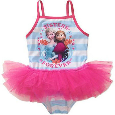 2T Toddler Girl's Swimsuit Disney Frozen Sisters Forever Bathing Suit with Tutu