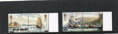 Sg 518-21 Isle Of Man Discovery Of America Umm Set In Pairs