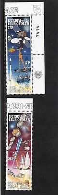 Sg 474-7 Isle Of Man Europe In Space Umm Set In Pairs