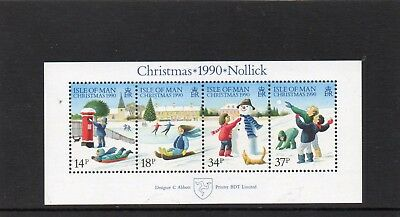 Ms 463 Isle Of Man Christmas 1990 Mini Sheet