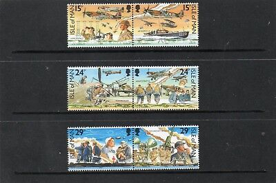 Sg 449-54 Isle Of Man Battle Of Britain Umm Set In Pairs