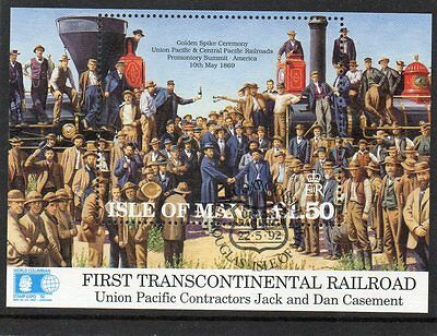 Ms 526 Isle Of Man Union Pacific Railroad Very Fine Used Mini Sheet