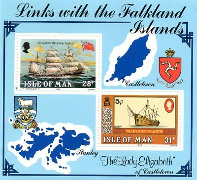 Ms 264 Isle Of Man Links With The Falkland Islands Unmounted Mint  Mini Sheet