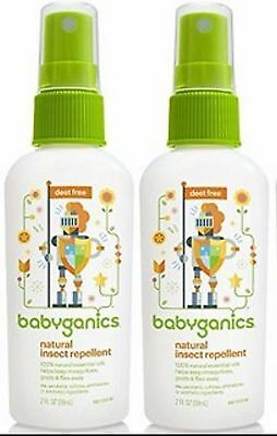 2 x Babyganics Natural Insect Repellent 6 oz (177ml) Exp. 03/19