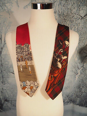 Pair of Vintage Polo Ralph Lauren 100% Hand Made Silk Ties Golf Dad Xmas