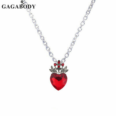 Valentine's Day Evie Necklace Descendants Red Heart Crown Necklace Queen of Hear