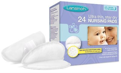 Lansinoh DISPOSABLE NURSING PADS X24 Baby Breast Feed Ultra Thin Stay Dry BN
