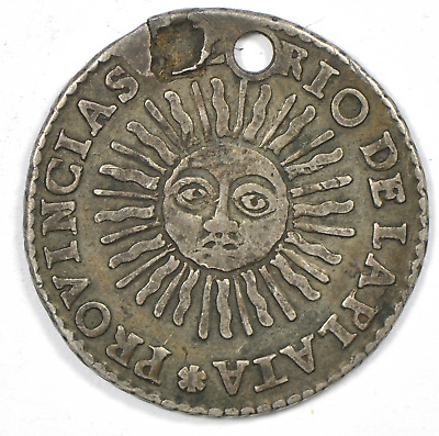 1826 RA Medal Alignment Argentina Silver 2 Soles Love Token KM#18