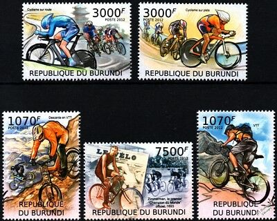 Bicycle Racing (Mountain Biking/Road & Track Race) Bike Stamp Set (2012 Burundi)