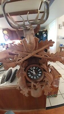 8 day movement hand carved cuckoo clock 58 cm by hekas