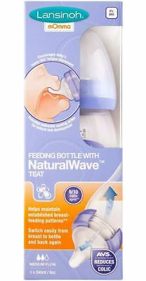 Lansinoh FEEDING BOTTLE 240ML Naturalwave Teat Express Breastfeeding Milk BN