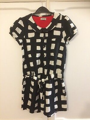 Girls Short Jumpsuit From Next, Age 11, Black And Cream