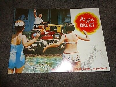 Very nice Case lawn tractors as you like it retro brochure 196824 pgs **