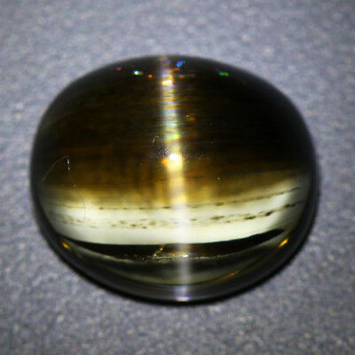 10.32 Cts_World Class Rare Stone_100% Natural Rainbow Rutile Scapolite Cat's Eye
