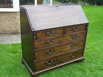 Antique Georgian Mahogany Bureau - Large