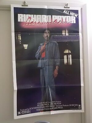 HERE AND NOW one 1 sheet movie poster RICHARD PRYOR 1983 original