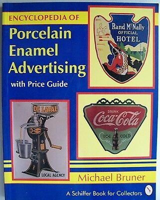 VINTAGE PORCELAIN ENAMEL SIGNS $$$ id PRICE GUIDE BOOK Gas Oil Soda Food Candy