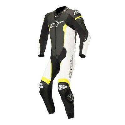Alpinestars Missile Mens 1 Piece Leather Suit Black/White/Yellow