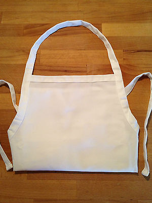 Kids apron-2 to 12 years-white-cotton, arts and craft activity, kids cooking