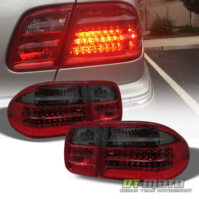Red Smoke 1996-2002 Mercedes-Benz W210 E300 E320 E430 E55 LED Tail Lights Lamps
