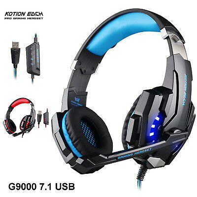 KOTION EACH G9000 USB Gaming Headset 7.1 Surround Sound LED with Mic For Gaming