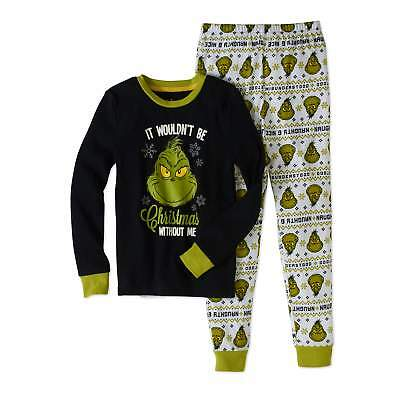 NWT Grinch Stole Christmas Dr Suess Boy Girl Pajamas PJ Set Sz 4 6 8 10 12 14 16