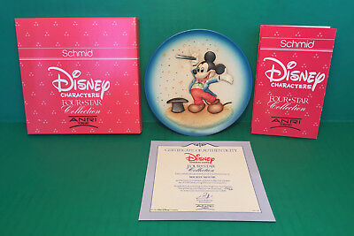 MICKEY MOUSE Collector Plate 1989 Disney Characters 1st Edition ANRI Made ITALY