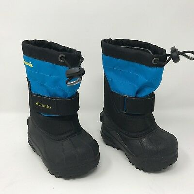 Columbia Toddler Powderbug Plus II Winter Snow Boot Blue Size 5 Waterproof