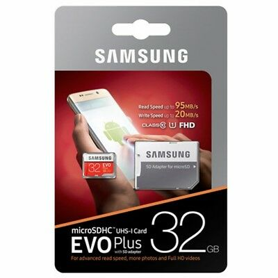 SD Card Samsung Evo Plus 32GB Micro SDHC Class 10 TF Camera Tab Memory 95MB/s