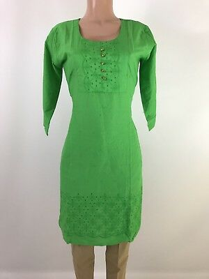 IBC $9.99  100% cotton Indian Kurti  Cutwork Embroidered work   kurta 42 Xlarge