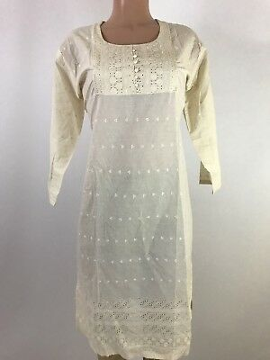 IBC $9.99  100% cotton Indian women kurta cutwork & Embroidery work 44 2 XL