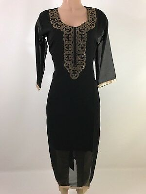 Hot Deal $19.99 Compare $75 Pakistani  Designer Georgette Women Kurta Size 44