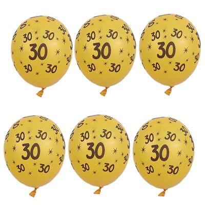 10/set Gold Latex Balloons 30th 40th 50th Birthday Anniversary Party Decor