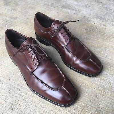 Cole Haan Cordovan Brown Leather Split Toe Oxford Dress Shoe Sz 9