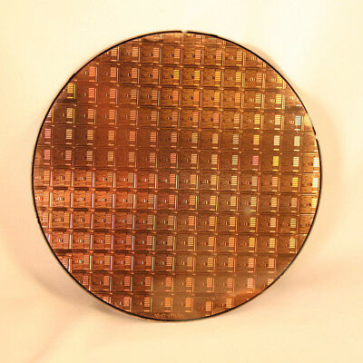 "200mm (8"") Silicon Wafer With Amazing CPU Chip Patterns"
